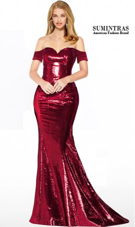 sparkly off the shoulder sweetheart short sleeves floor length sequin mermaid dress