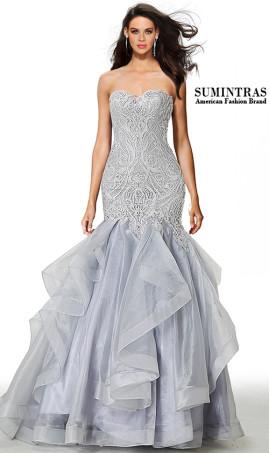 dramatic strapless sweetheart lace bodice floor length mermaid dress