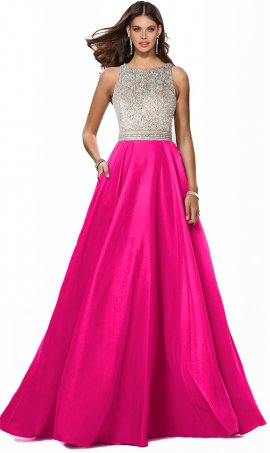 stunning beaded bodice a line taffeta prom formal evening pageant gown dress