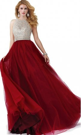 Flattering sequin beaded lace-up back tulle ball Dress Gown prom formal evening Dress Gown